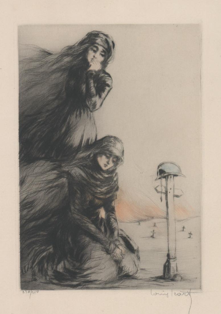 Louis Icart Etching [The War Widow]