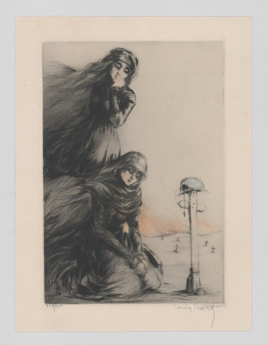 Louis Icart Etching [The War Widow] - 2