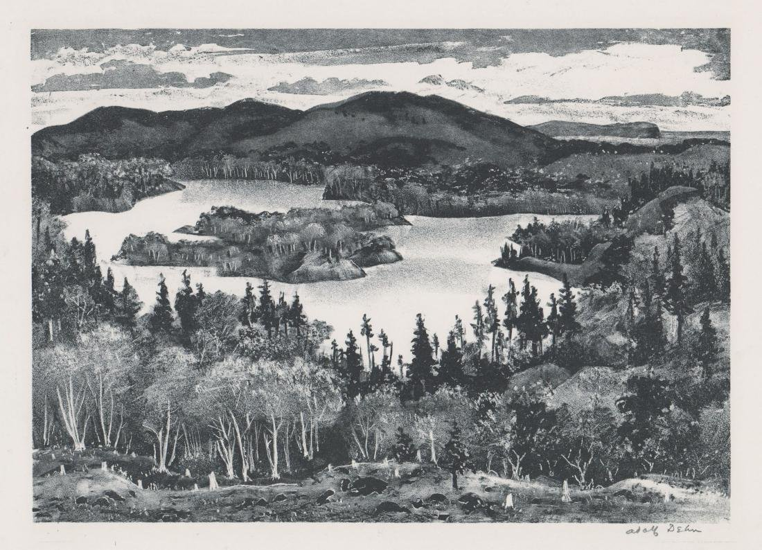 Adolf Dehn Lithograph [Northern Lake]