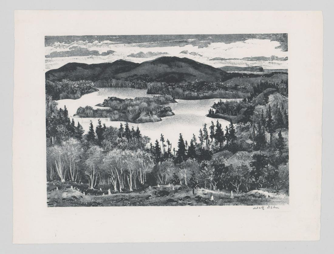 Adolf Dehn Lithograph [Northern Lake] - 2