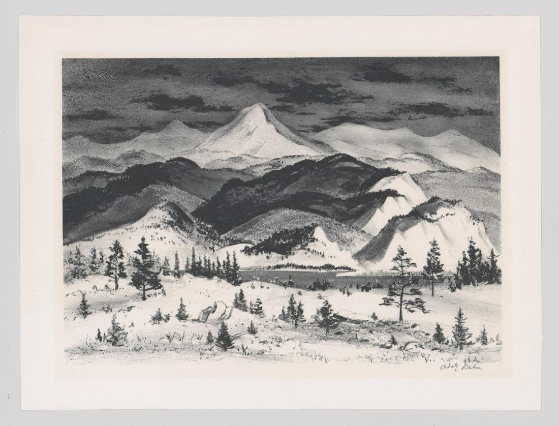 Adolf Dehn Lithograph [Winter In The Rockies] - 2
