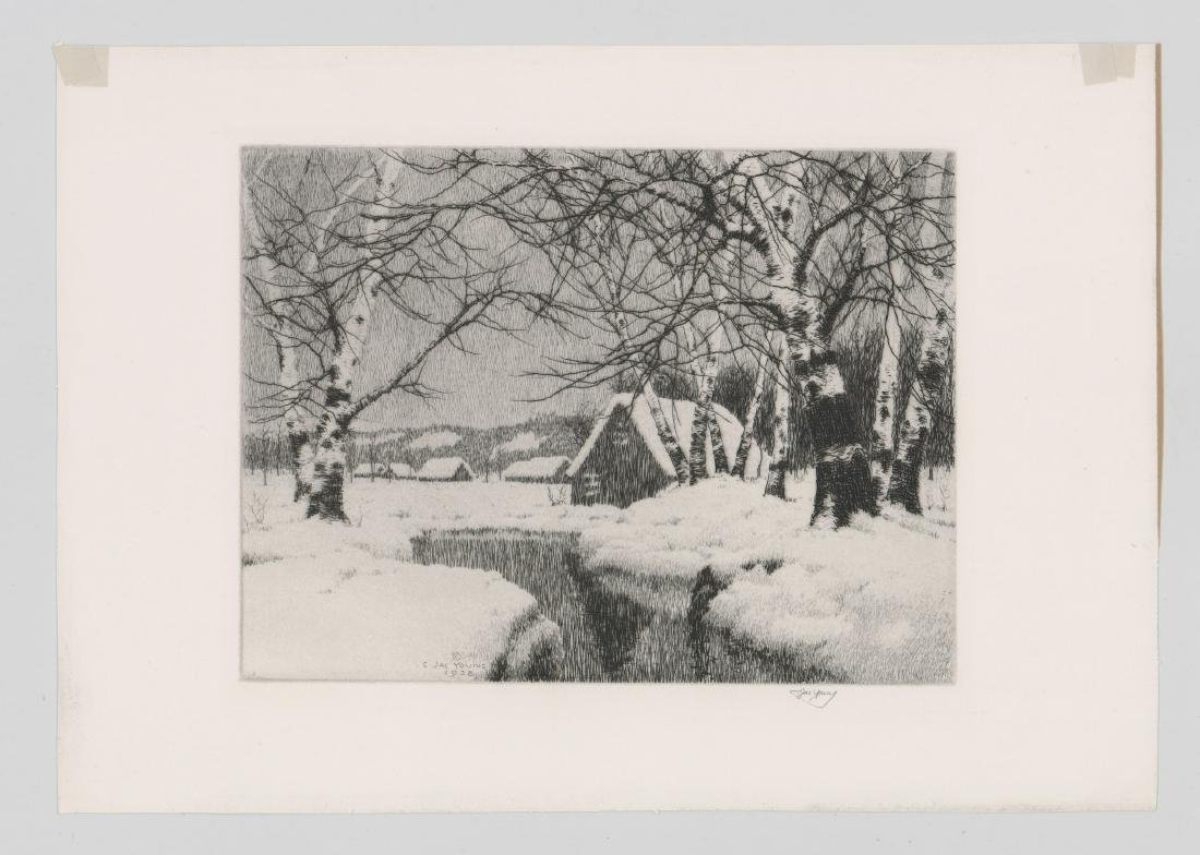 C. Jac Young Etching - 2