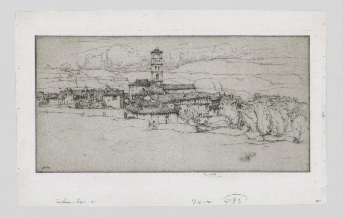 Ernest D. Roth Etching - 2