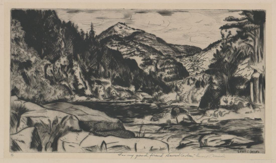 Lewis C. Daniel (1901 - 1952) Etching