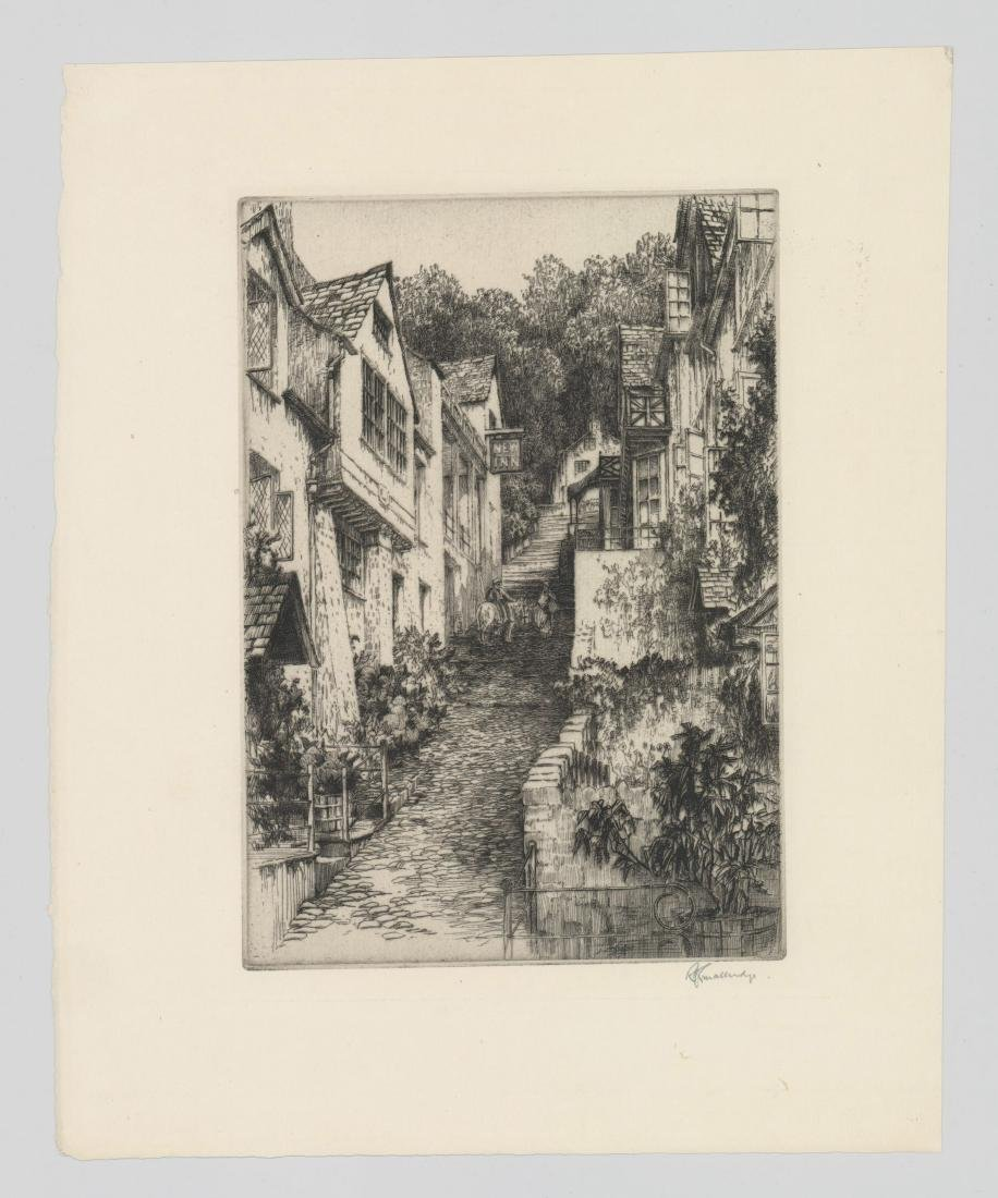 A Fine Etching Signed Illegibly [New Inn] - 2