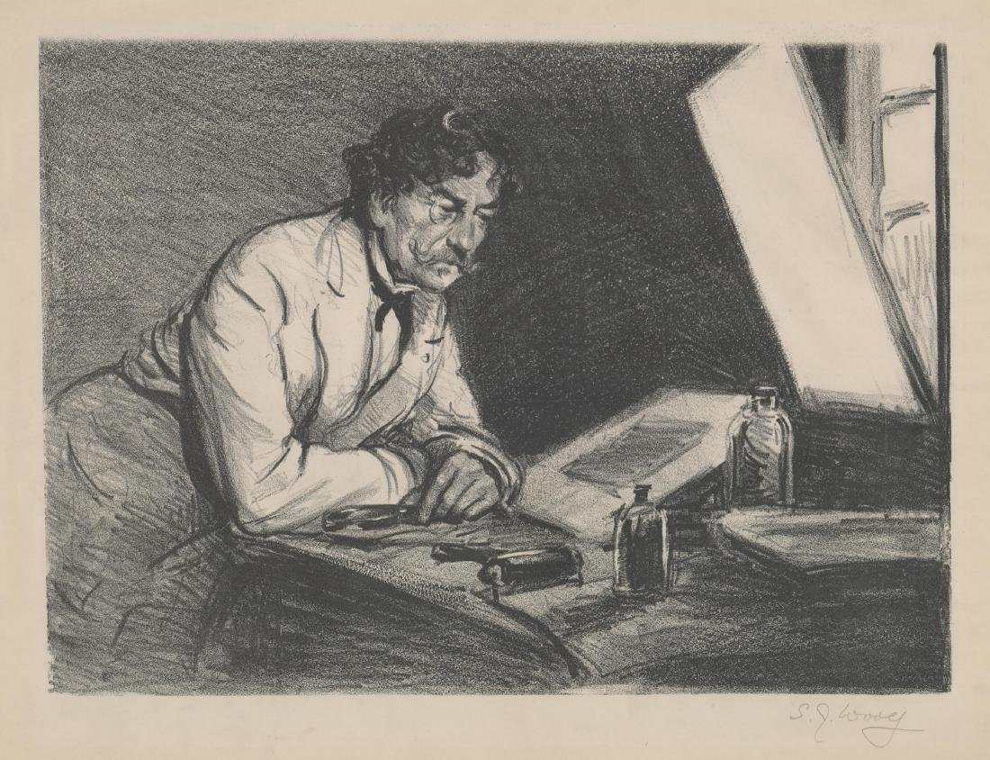 S.J. Woolf Lithograph of [Jams A.M. Whistler]