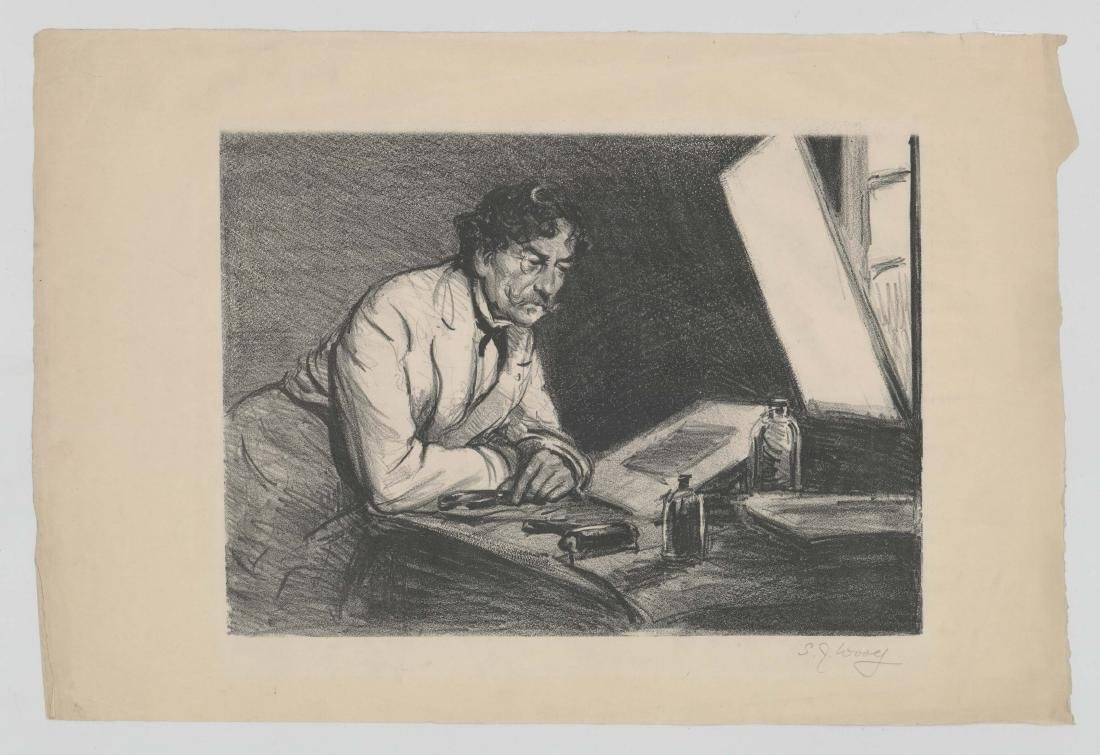 S.J. Woolf Lithograph of [Jams A.M. Whistler] - 2