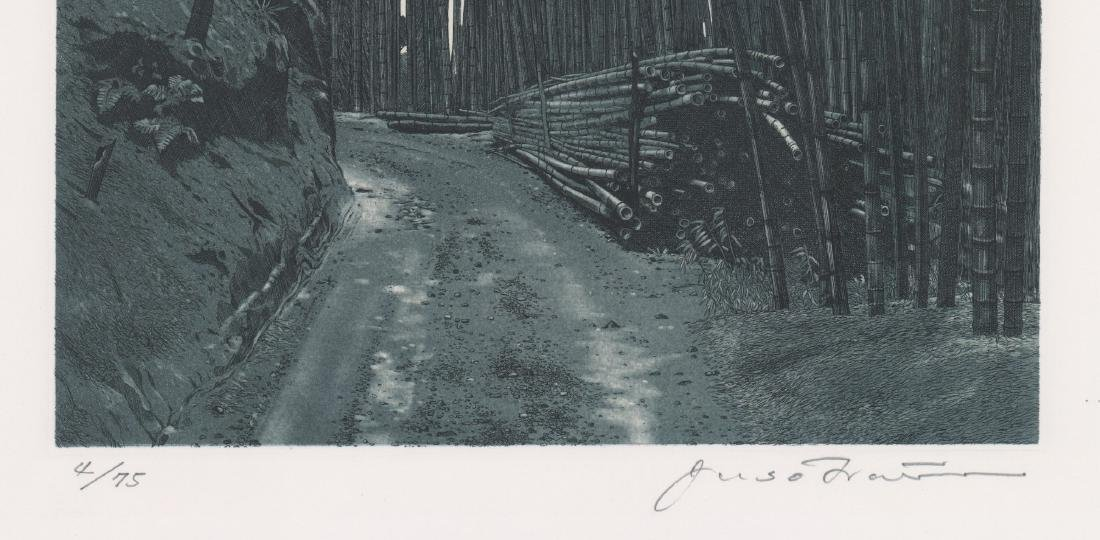 A Fine Japanese Etching of Bamboo Forest - 3