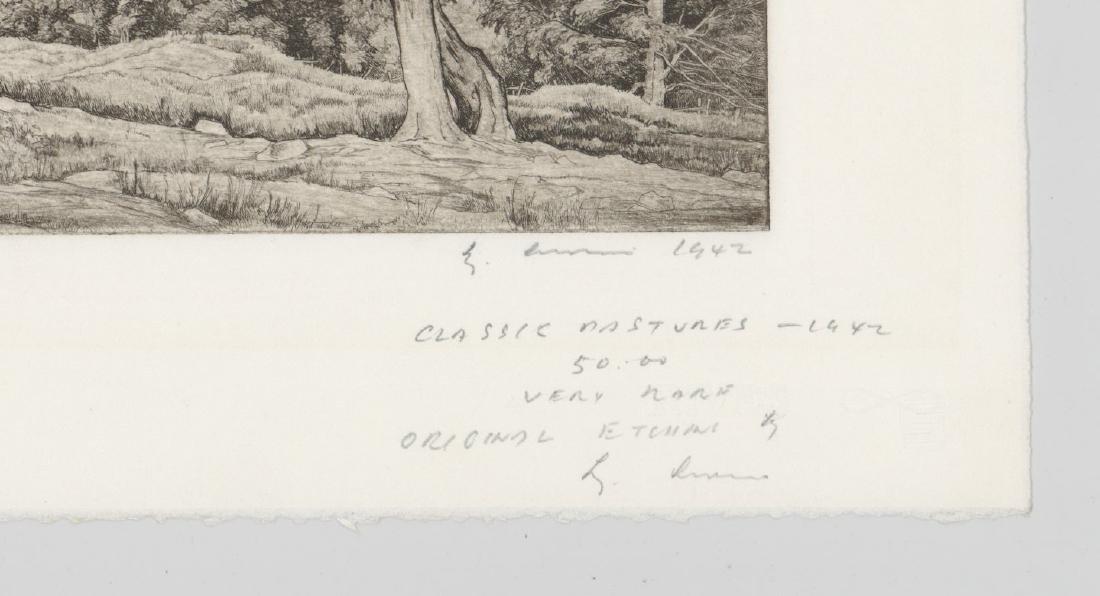 Luigi Lucioni Etching [Classic Pastures] - 3