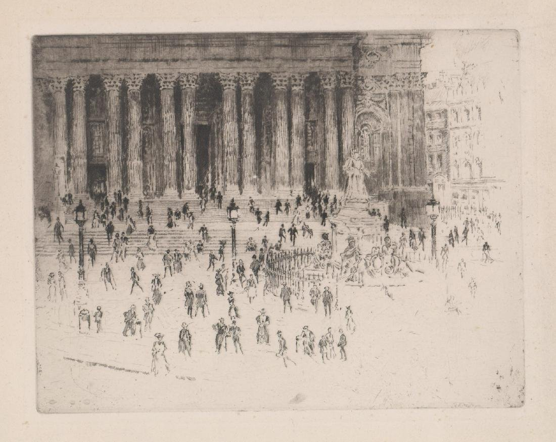 Joseph Pennell Etching [Pavement St. Paul's]