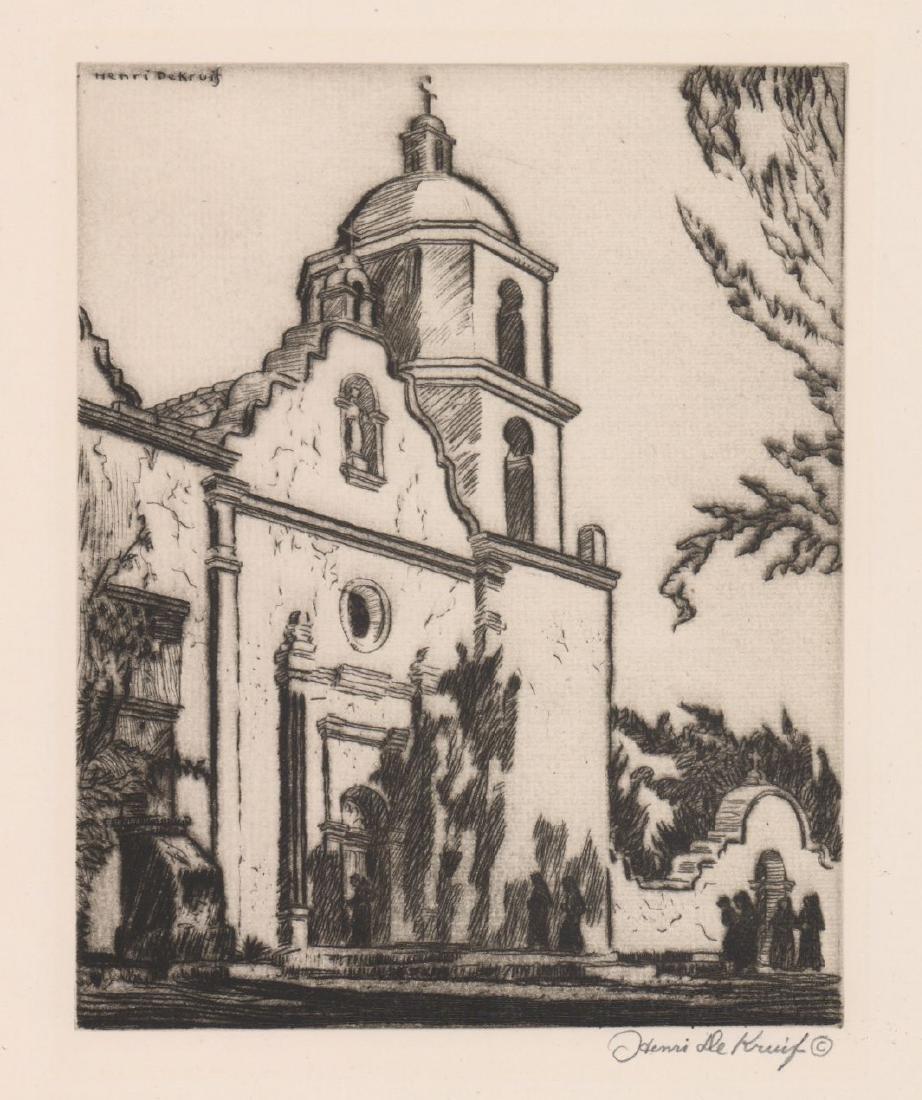Henri De Kruif (1882 - 1944) Etching