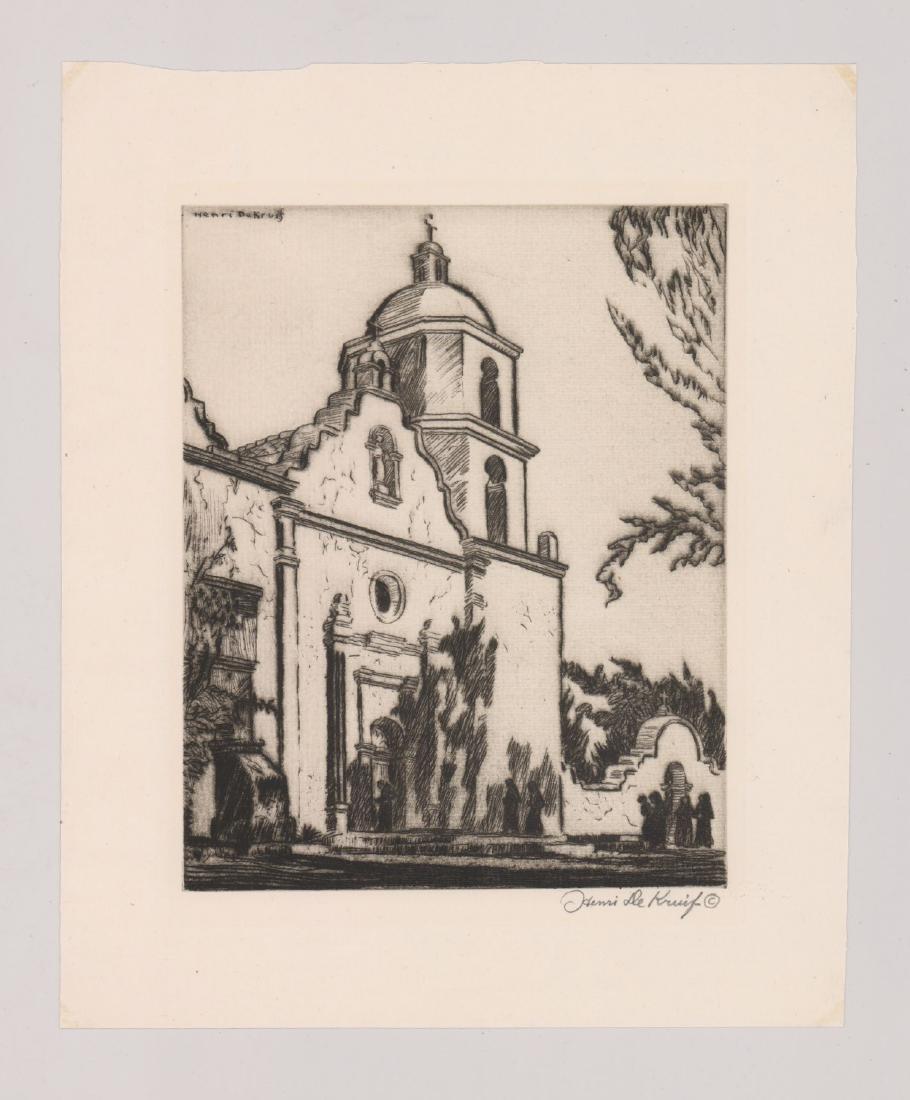 Henri De Kruif (1882 - 1944) Etching - 2