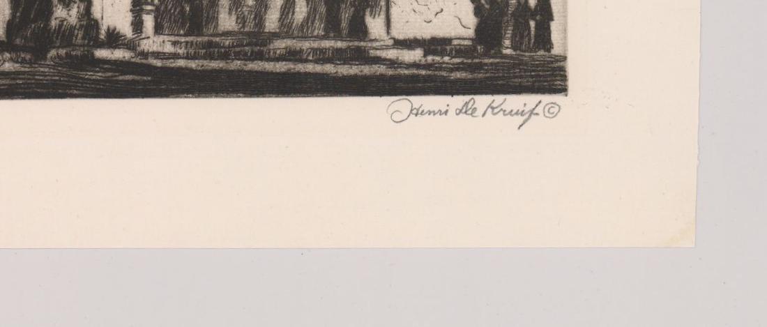 Henri De Kruif (1882 - 1944) Etching - 3