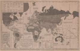 1843 William Woodbridge World Map