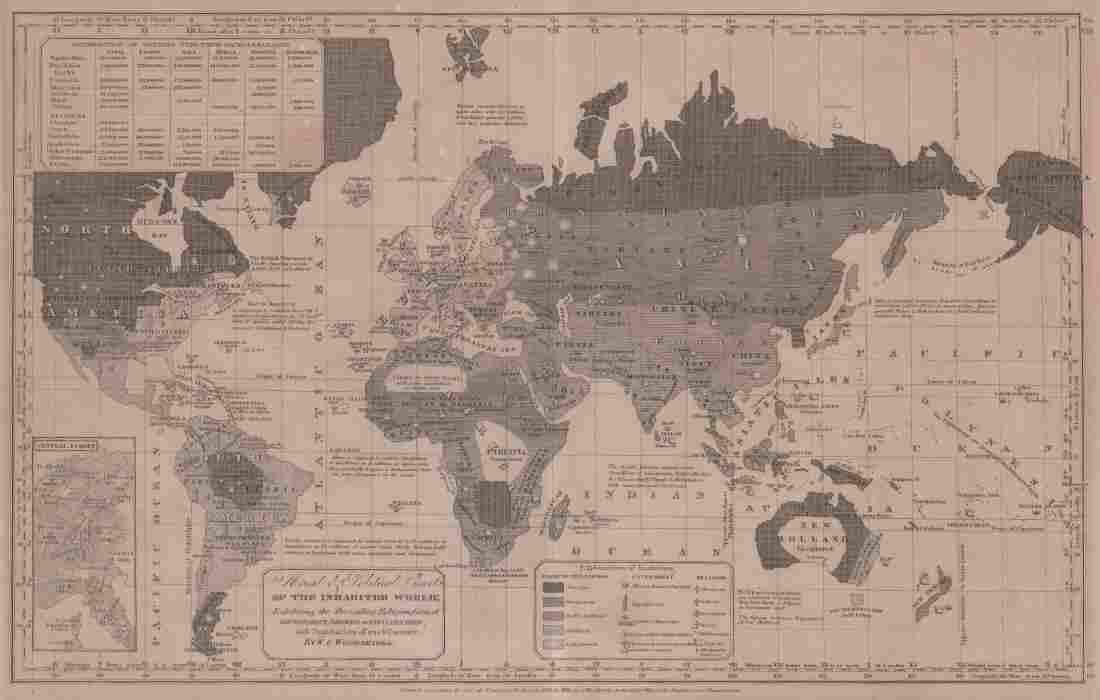 1843 William Woodbridge World Map