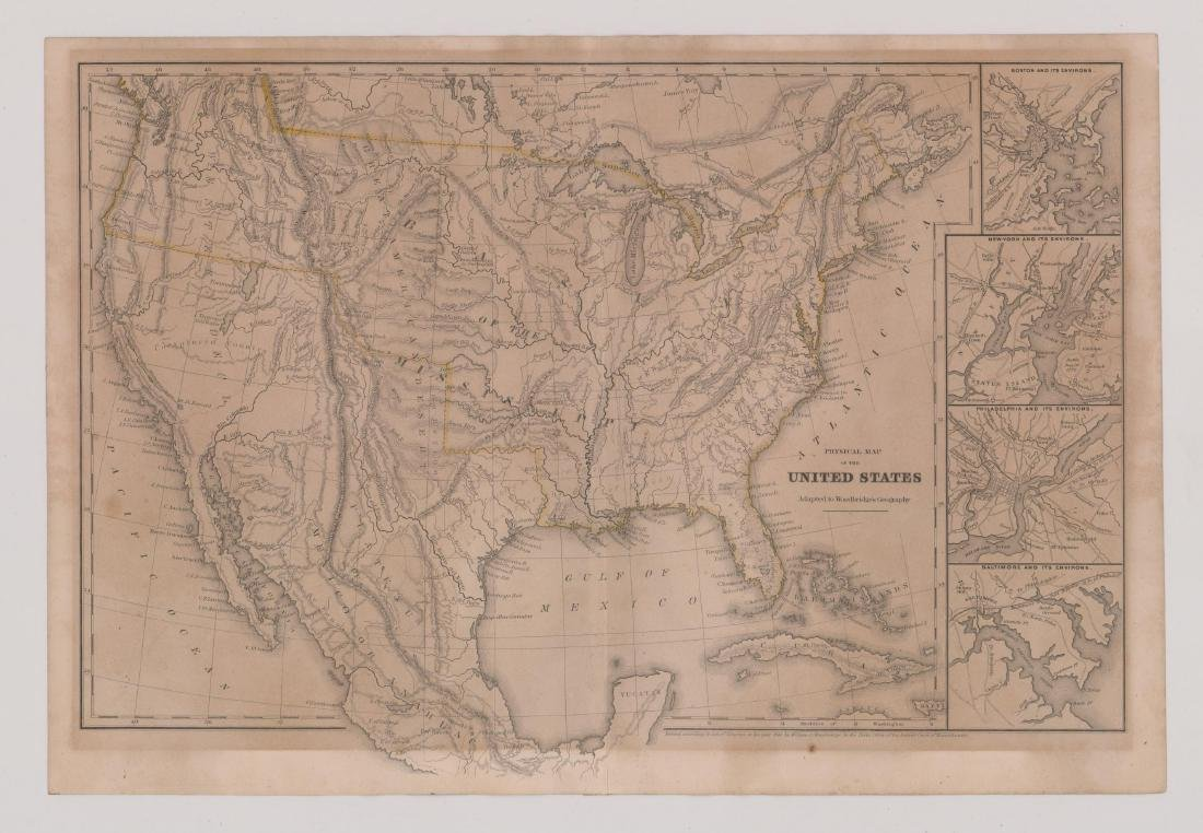 1843 William Woodbridge United States Map - 2