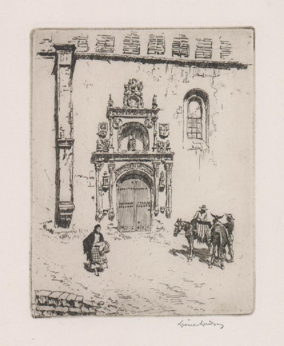Lionel Lindsay Etching [Doorway Of Las Duenas]