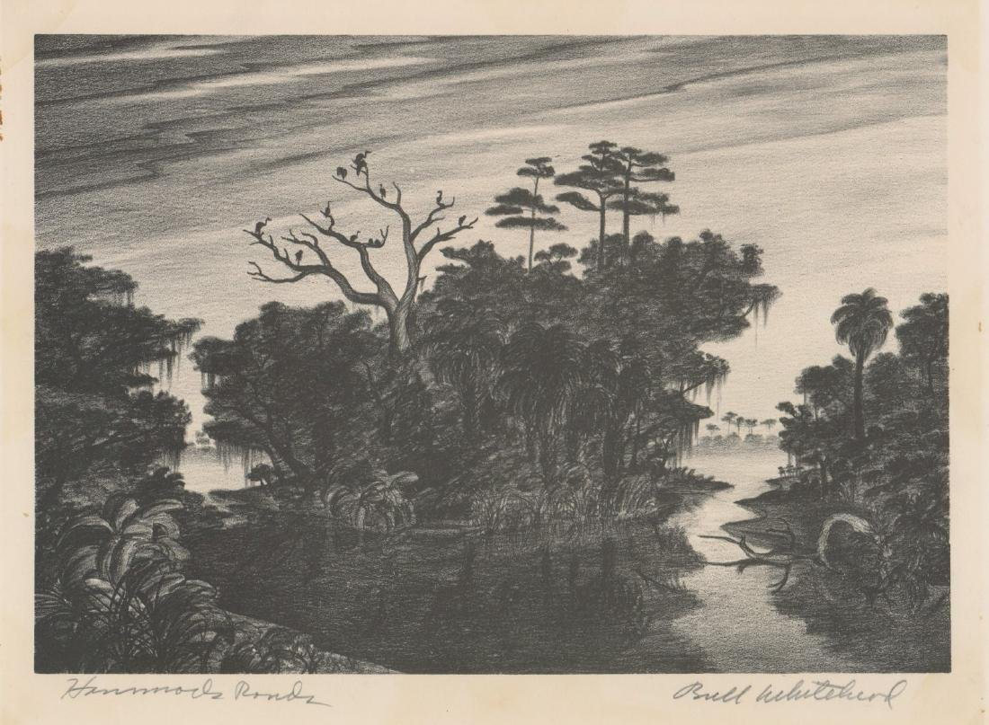 Buell Whitehead Lithograph [Hammock Ponds]