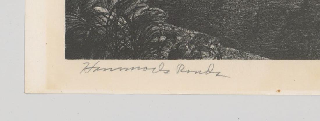 Buell Whitehead Lithograph [Hammock Ponds] - 4