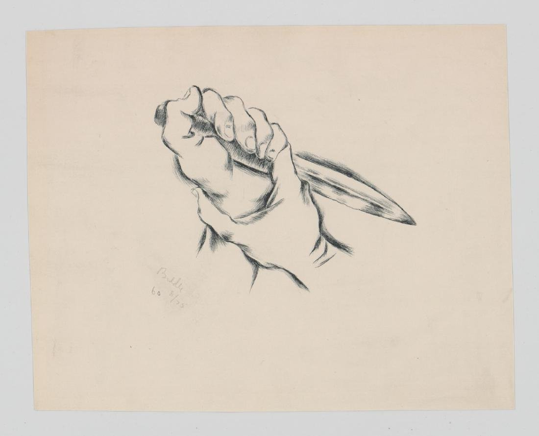 George Biddle Lithograph [The Dagger] - 2