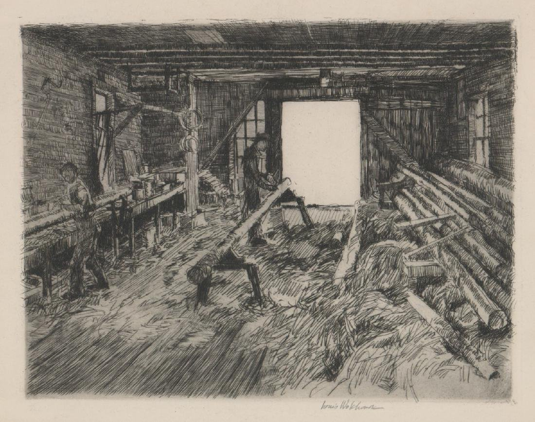 Louis Wolchonok (1898 - 1973) Etching
