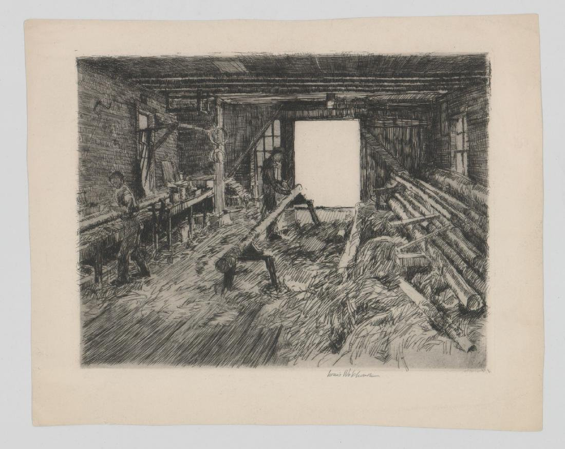 Louis Wolchonok (1898 - 1973) Etching - 2