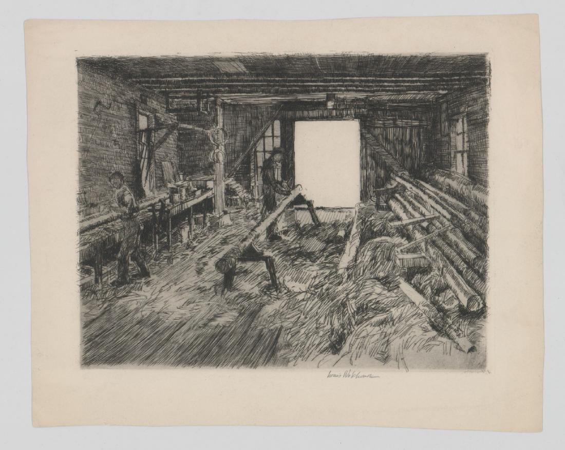 Louis Wolchonok (1898 - 1973) Etching - 2