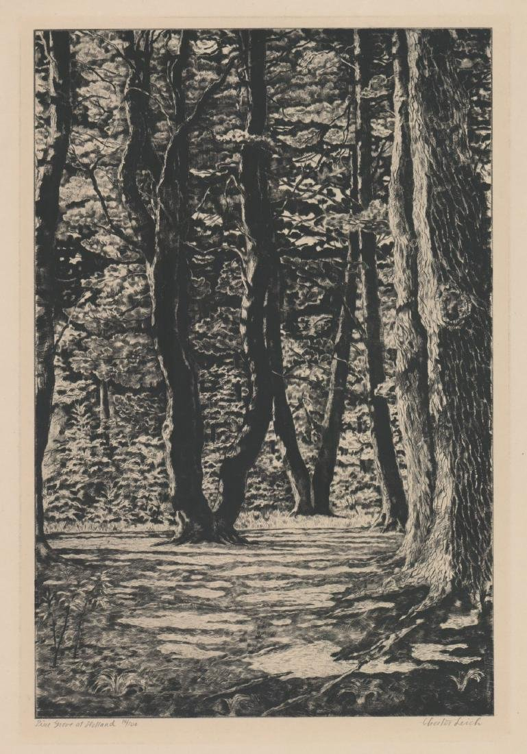 Chester Leich (1889 - 1978) Etching