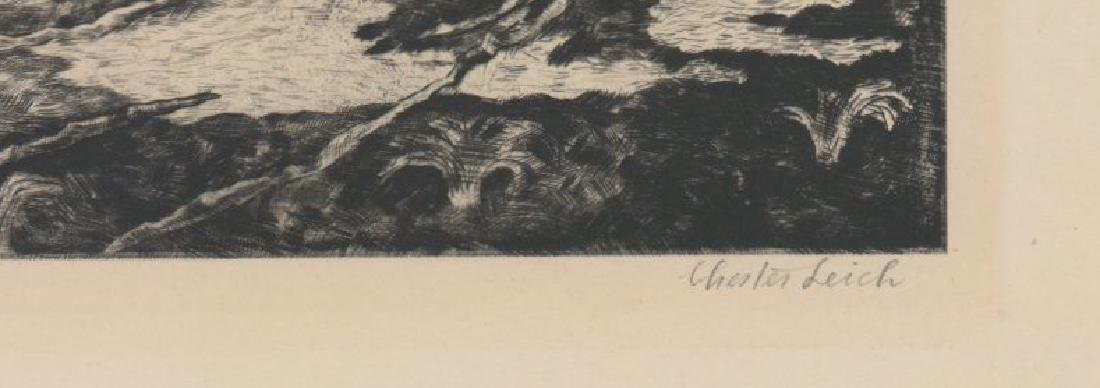 Chester Leich (1889 - 1978) Etching - 3