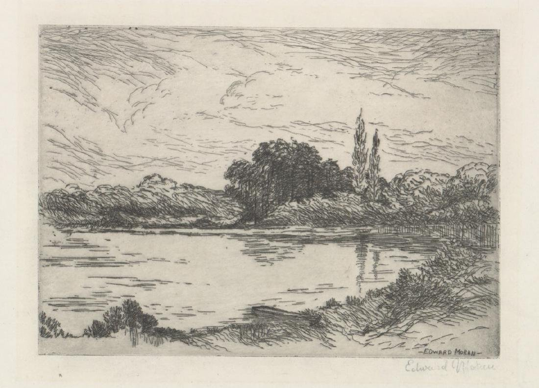 Edward Moran Etching