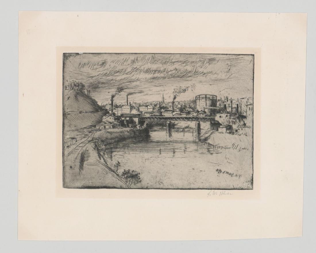 Frederick Harer (Pennsylvania 1879 - 1947) Etching - 2