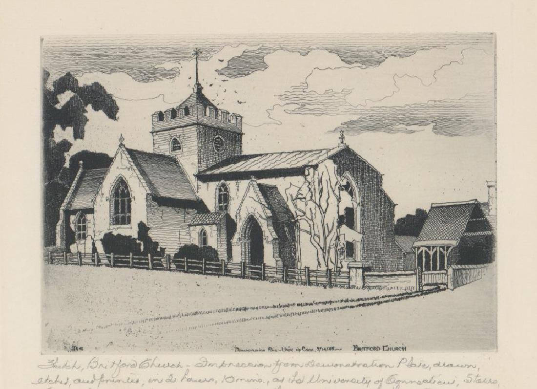 John Taylor Arms Demonstration Plate Etching