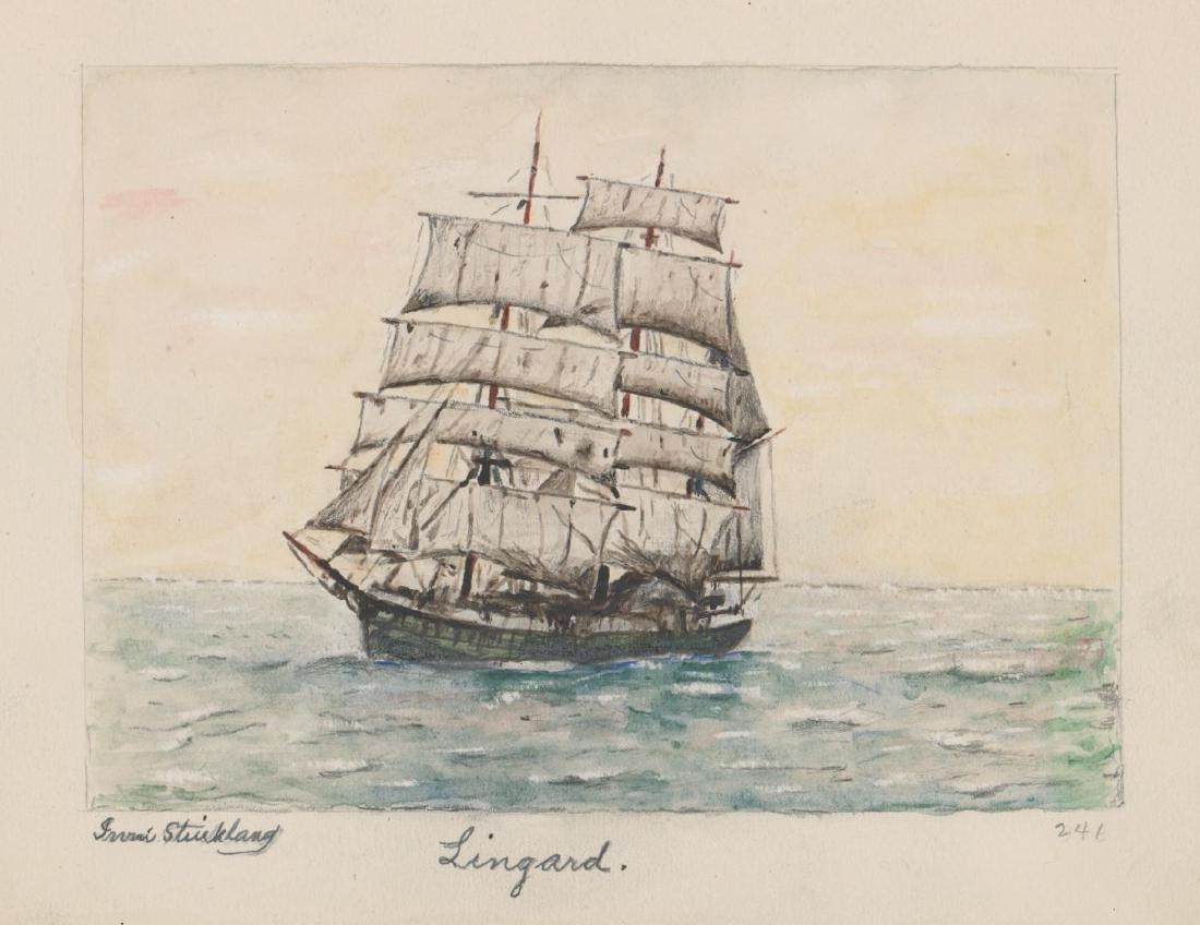 Irvin E. Strickland (Connecticut) Watercolor