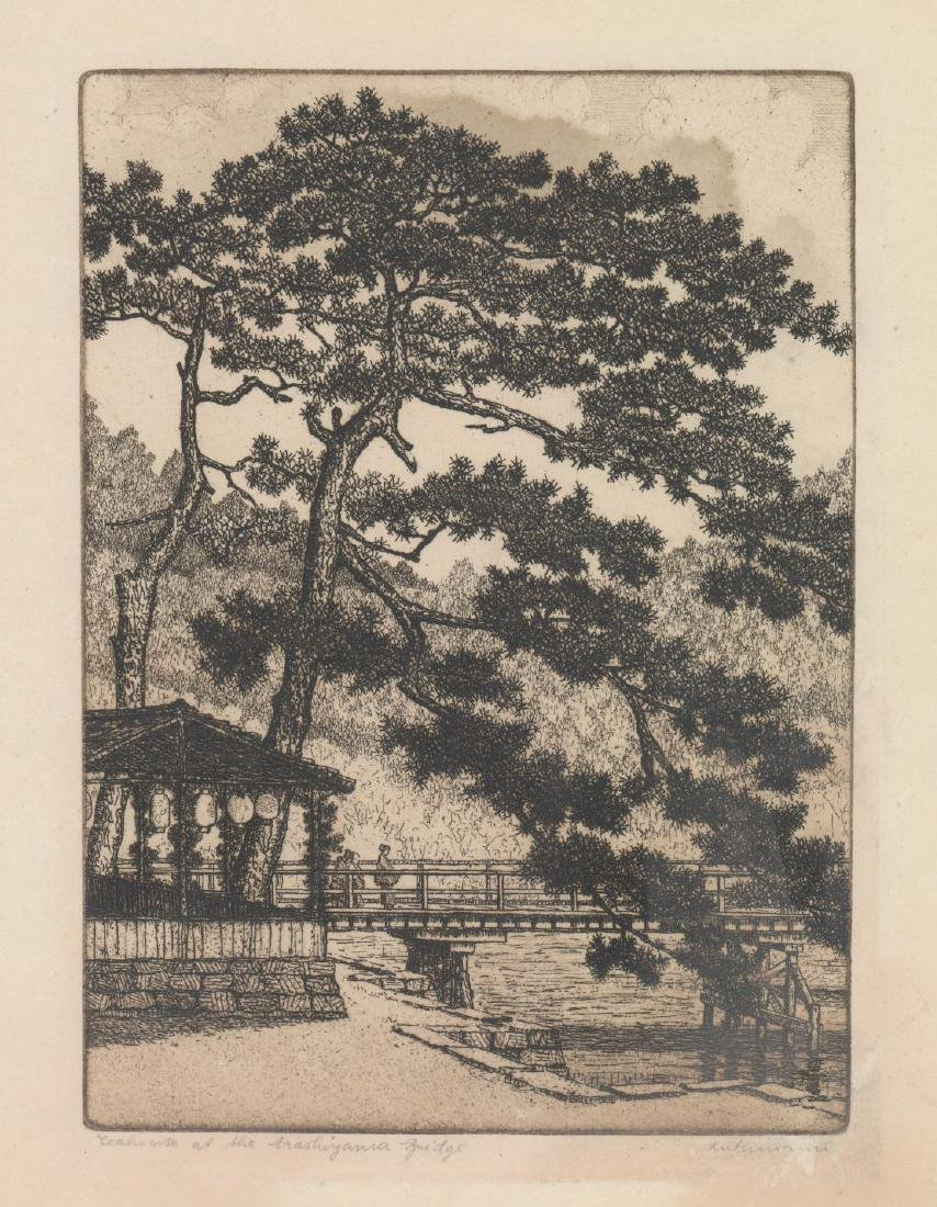Hans Luthmann Arashiyama Bridge Signed Etching