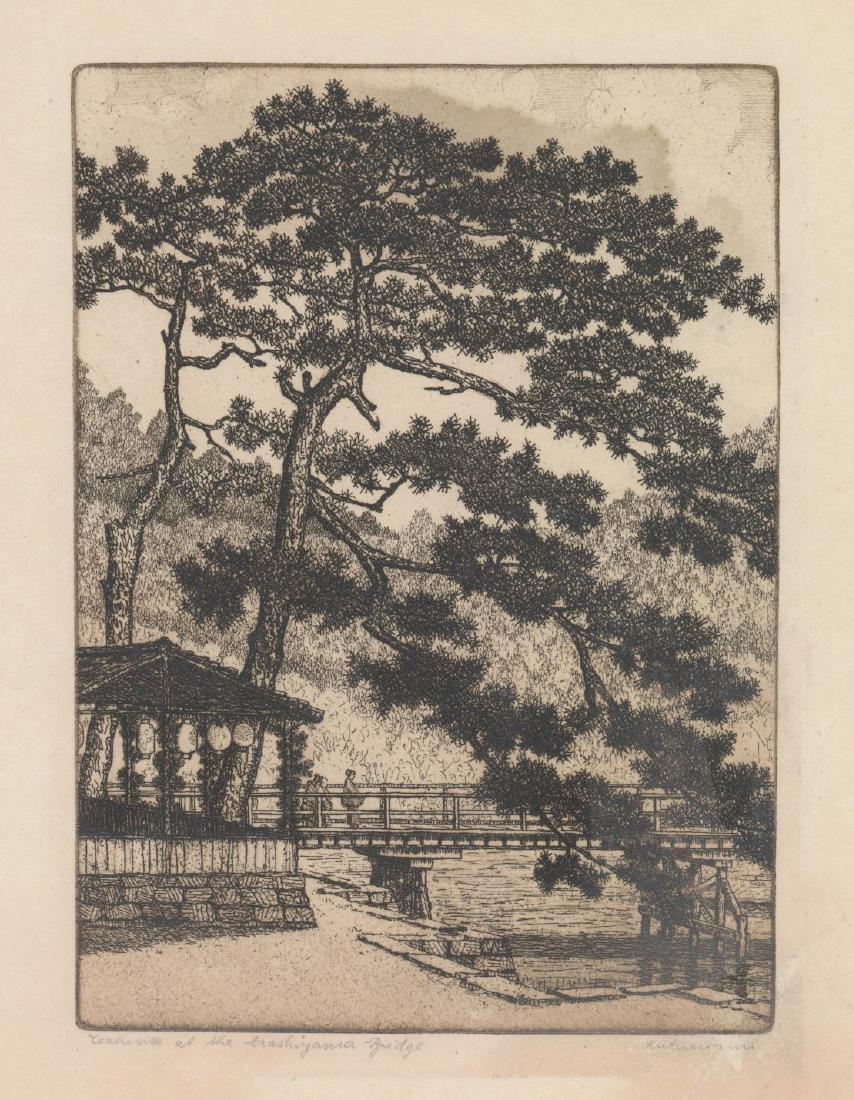 Hans Luthmann Arashiyama Bridge Signed Etching