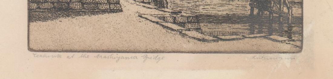 Hans Luthmann Arashiyama Bridge Signed Etching - 3