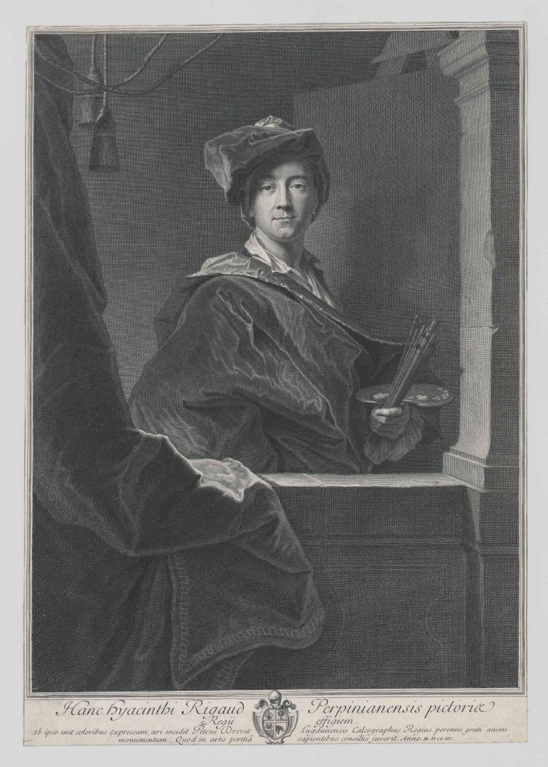 Hanc Hyacinthi Rigaud Engraving Circa 1703