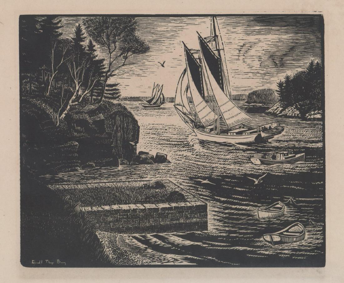 Carol Thayer Bayer Woodblock Print