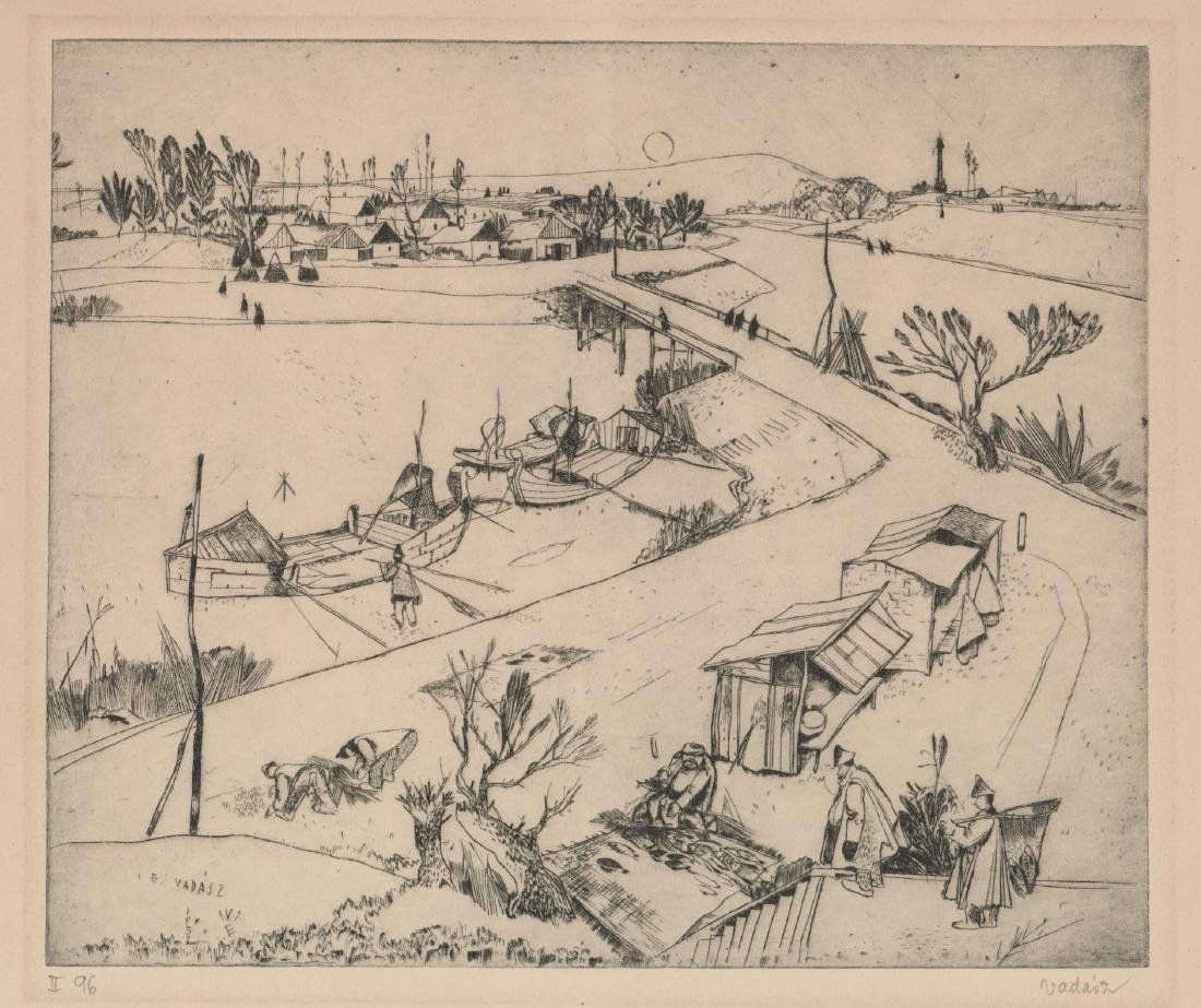 Endre Vadasz (Hungary 1901-1944) Etching