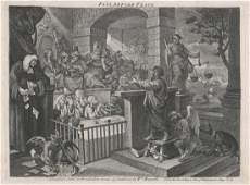 William Hogarth Etching Paul Before Felix 1751