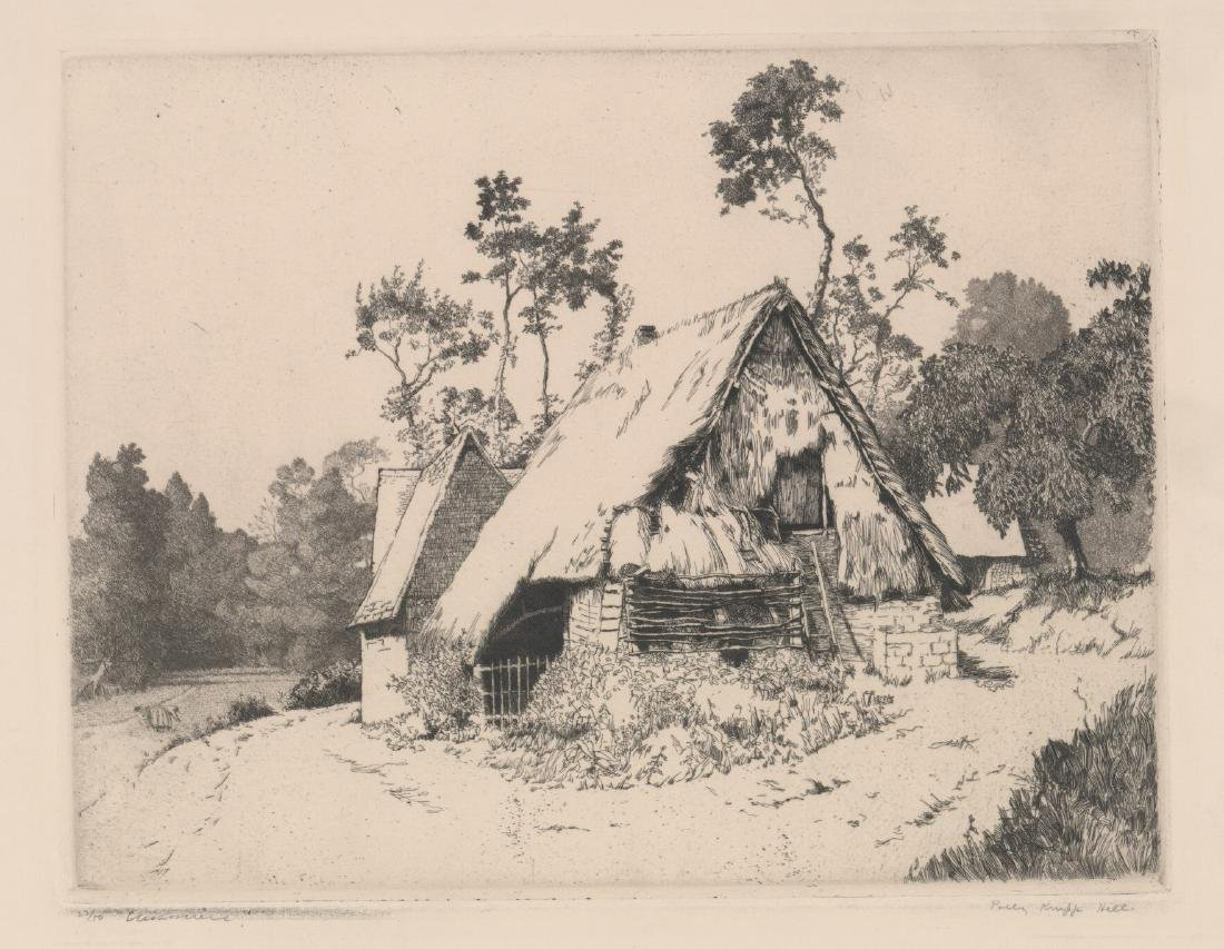 Polly (Pauline) Knipp Hill (1900 - 1990) Etching