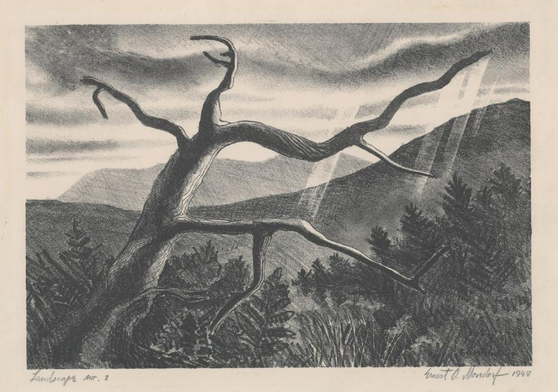Ernest O. Mondorf Lithograph [Landscape No.1]