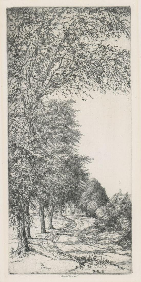 A Fine American Etching Signed Ernest Haskell