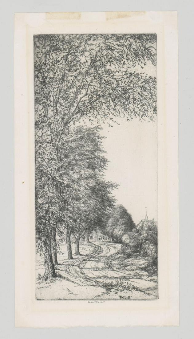 A Fine American Etching Signed Ernest Haskell - 2
