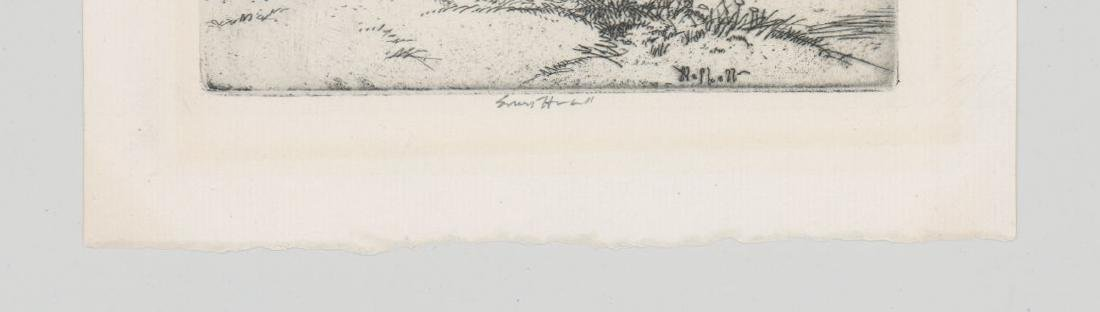 A Fine American Etching Signed Ernest Haskell - 3