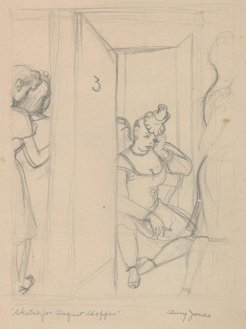 Amy (Frisbie Blair) Jones (1899 - 1992) Drawing
