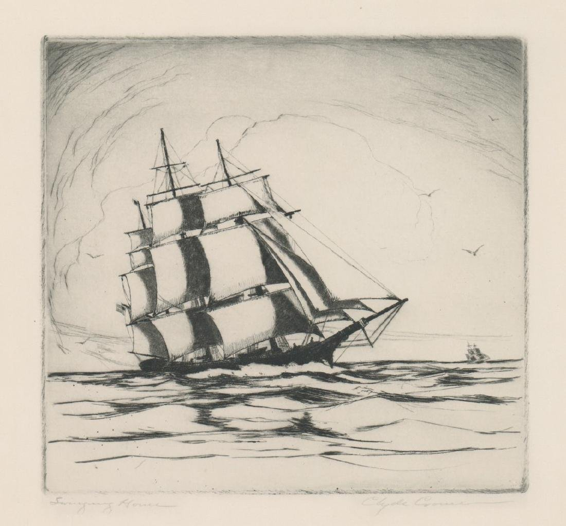 A Fine Etching [Swinging Home] Signed Illegibly