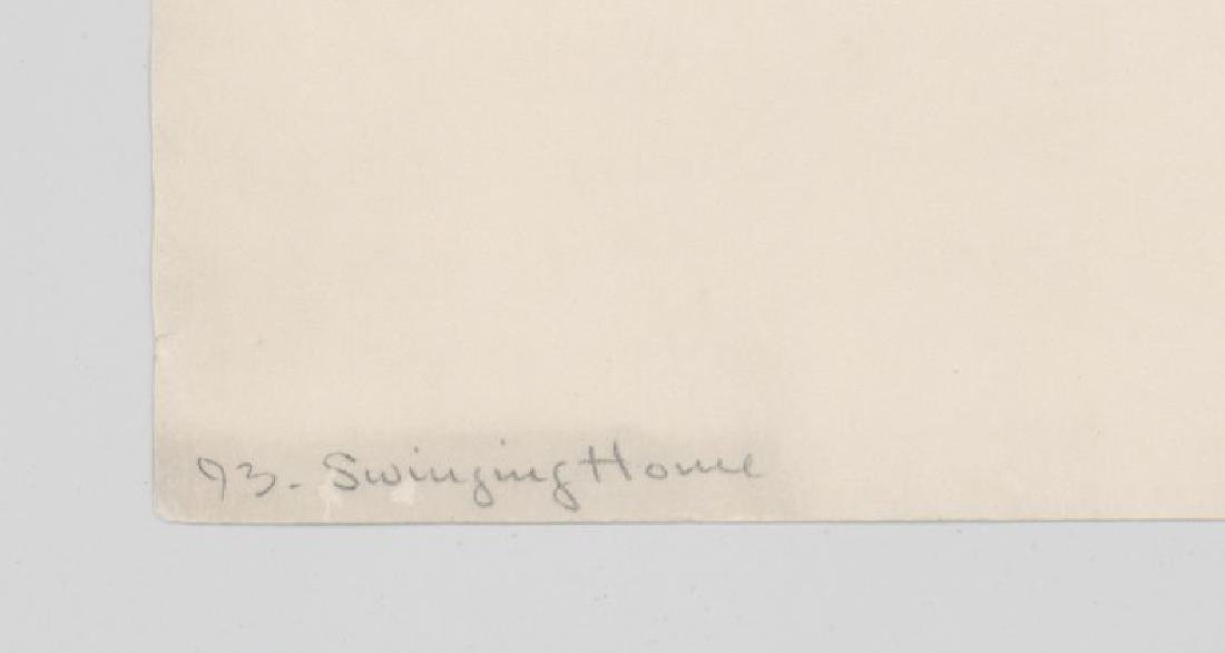 A Fine Etching [Swinging Home] Signed Illegibly - 3