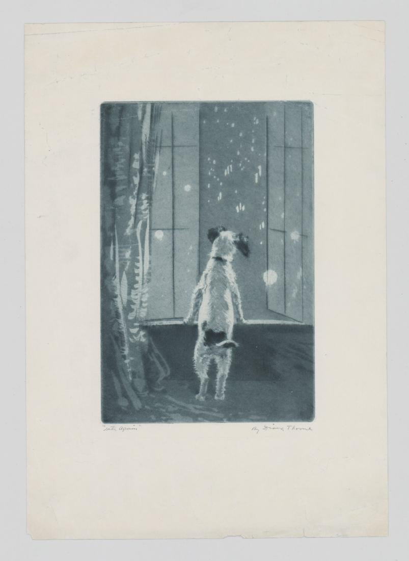 Diana Thorne Etching [Late Again] - 2
