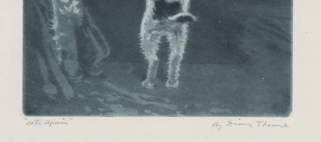 Diana Thorne Etching [Late Again] - 3